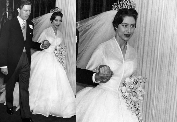 Princess Margaret on her wedding 2