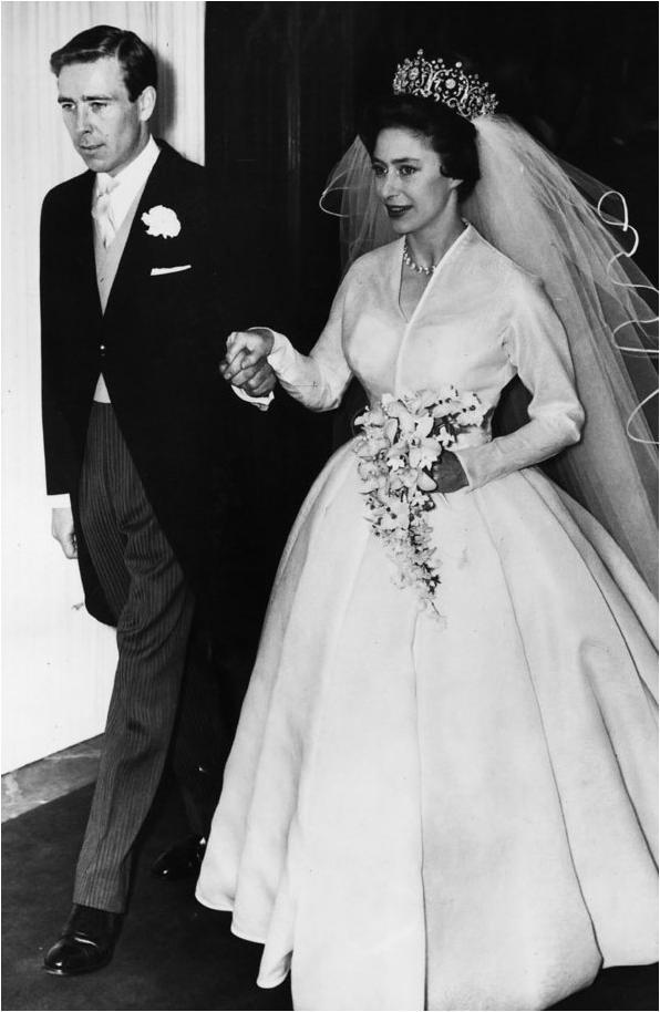 Princess Margaret on her wedding