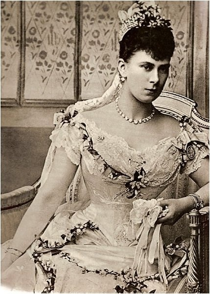 Queen Mary, on her wedding