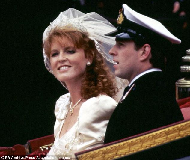 Sarah Ferguson on her wedding.