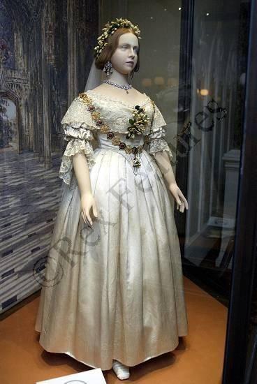 The wedding dress of Queen Victoria