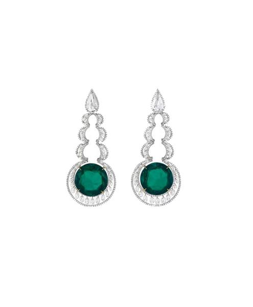 chopard-diamond-earrings-with-emeralds-profile