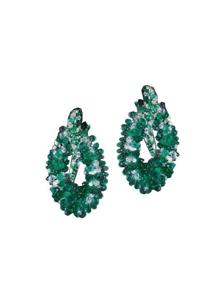 de grisogono emerald-earrings