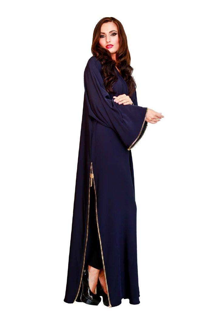 resized_Blue Abaya with style