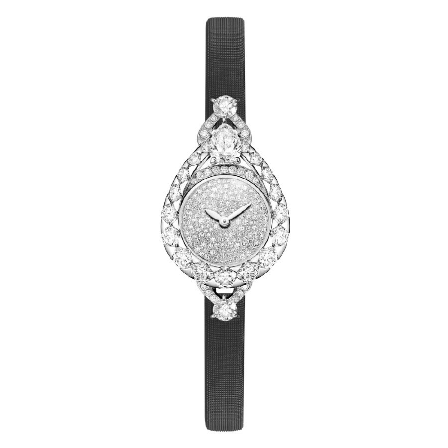 resized_Eclat Floral Joséphine watch black bracelet
