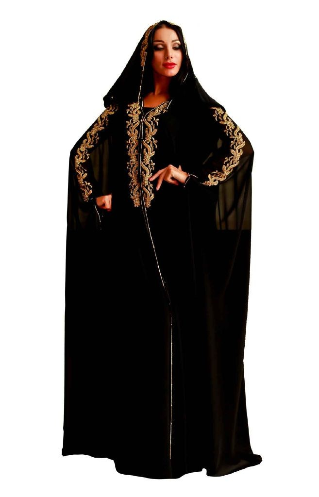 resized_Princess Black & Gold Abaya