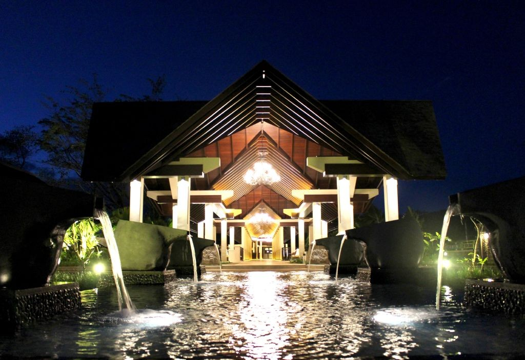 resized_Resort Entrance - Night Shot