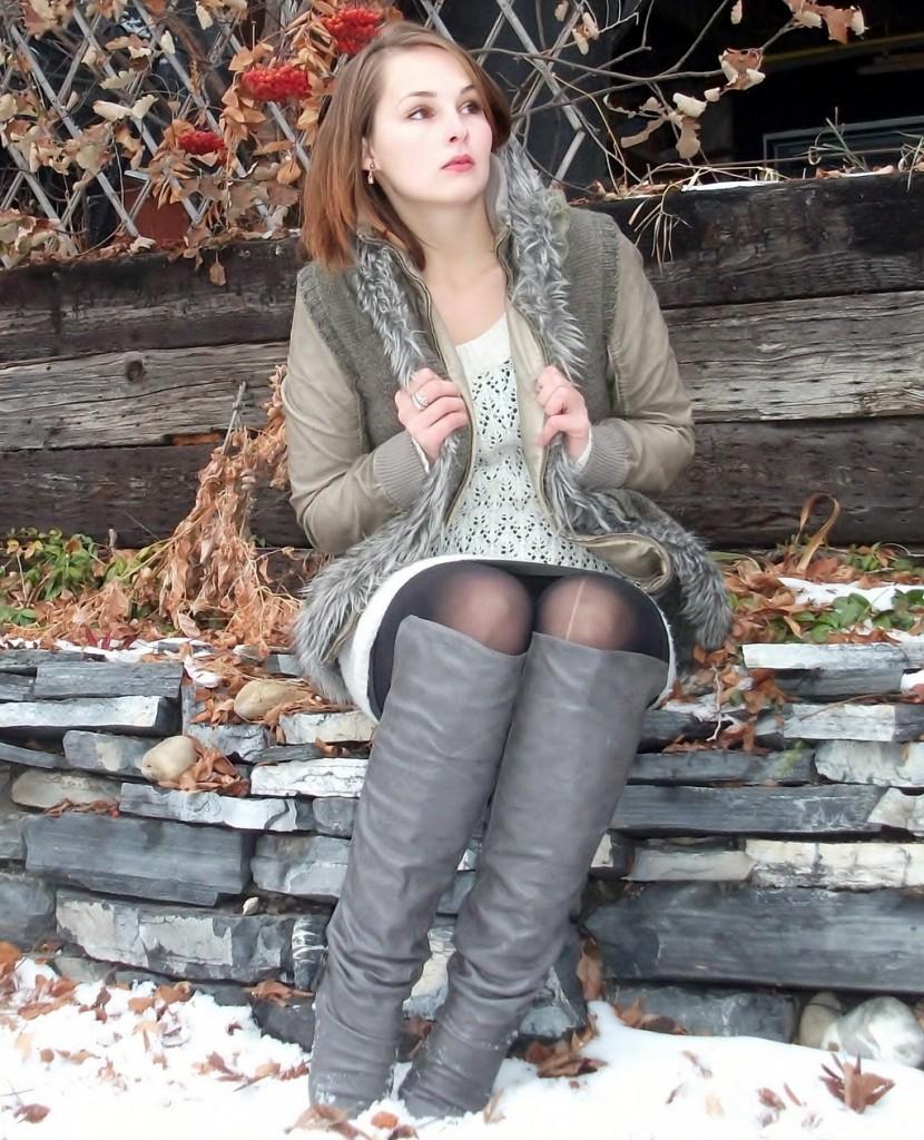 winter-fashion-boots-vest-sweater-dress