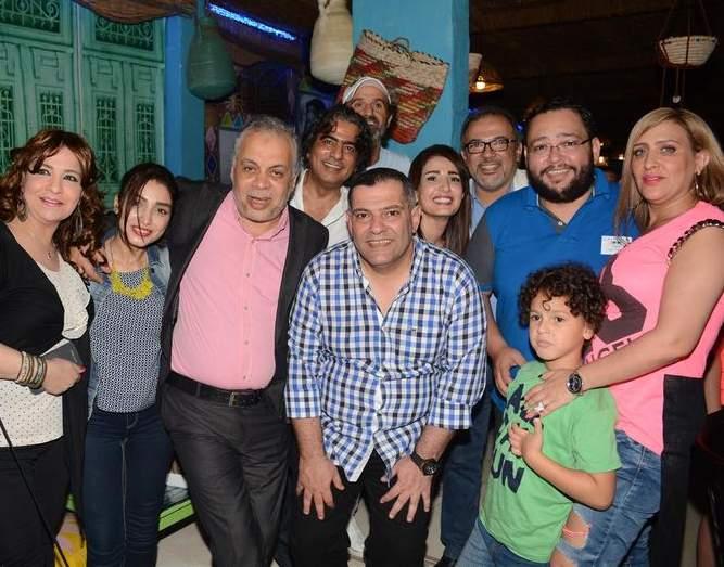 أشرف زكي وزوجته روجينا وأحمد رزق وزوجته