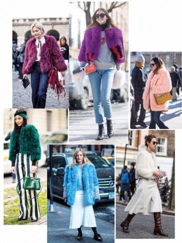 الفراء الملون - Colorful fur coat
