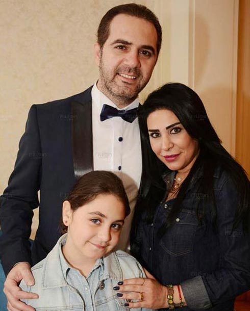 وائل جسار وزوجته وابنته