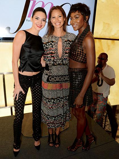 2014 with Christy Turlington Burns and Naomi Campbell