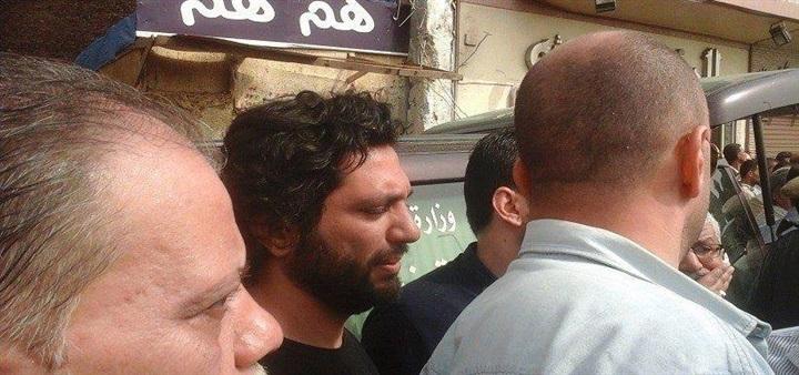 حسن الرداد يشيع جثمان ابن خالته