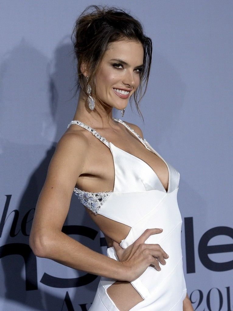 Model Alessandra Ambrosio poses during the InStyle Awards at the Getty Center in Los Angeles