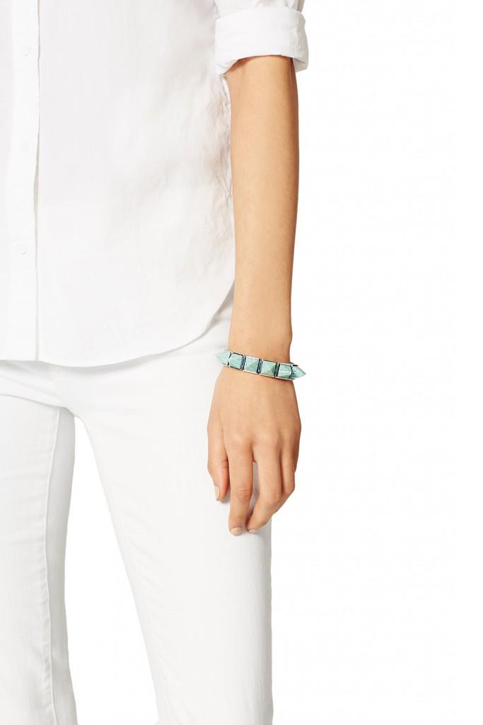 Amazonite Gemstone Pyramid Bracelet