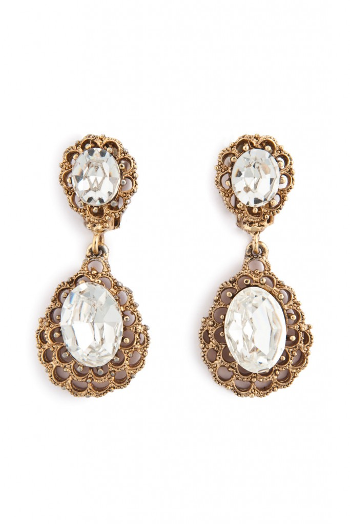 Antique Cascading Crystal Earring