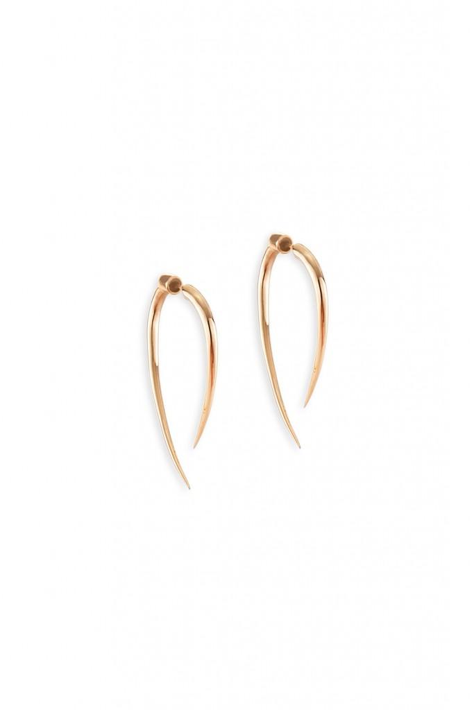 Copper Tallon Hoops