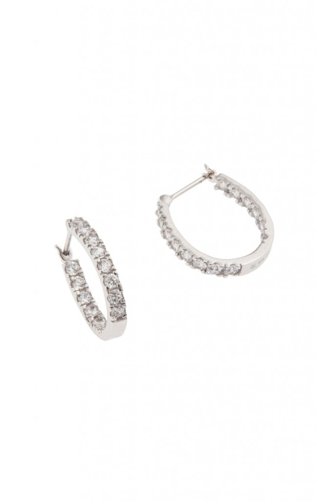 Crystal Hoop Love Earrings