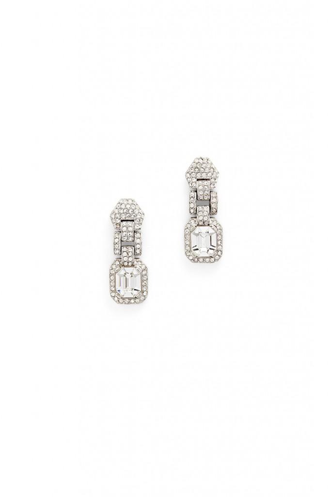 Crystal Link Drop Earrings