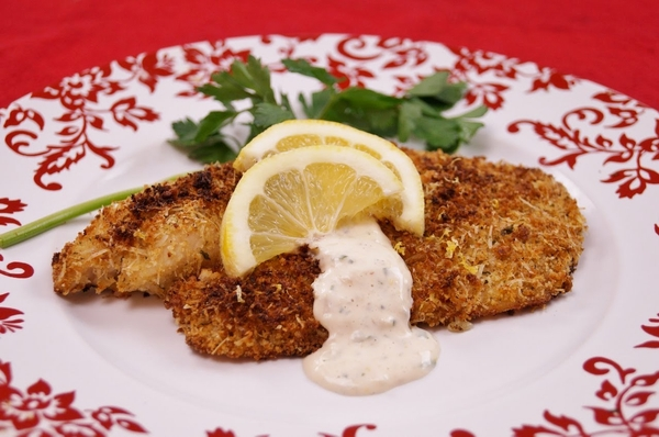 Fish with garlic and herbs in the oven