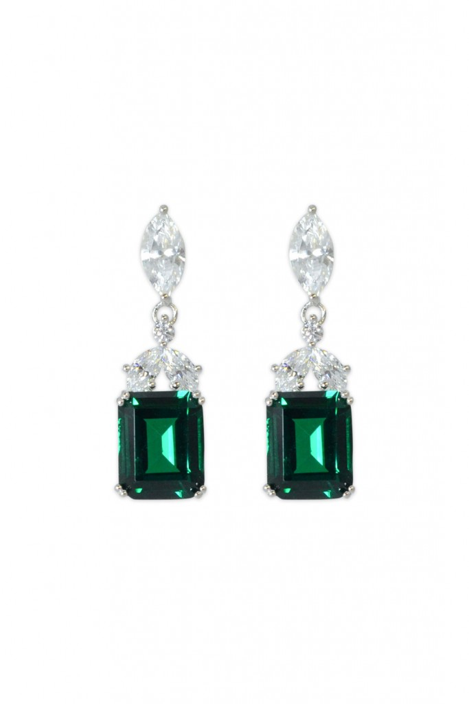 Laurel Green Drop Earrings