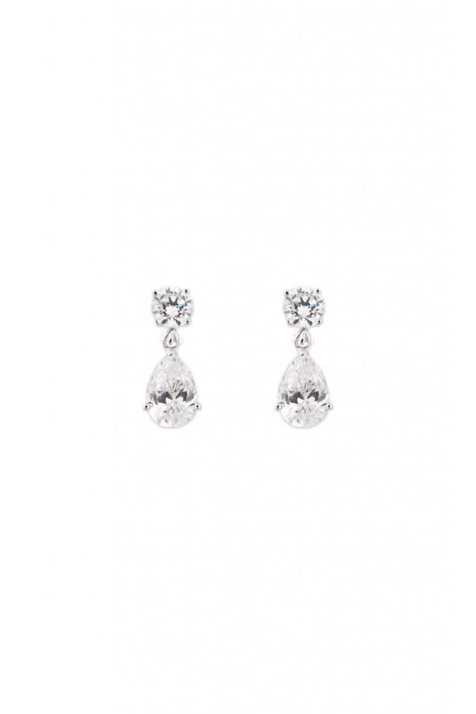 Petite Crystal Tear Earrings