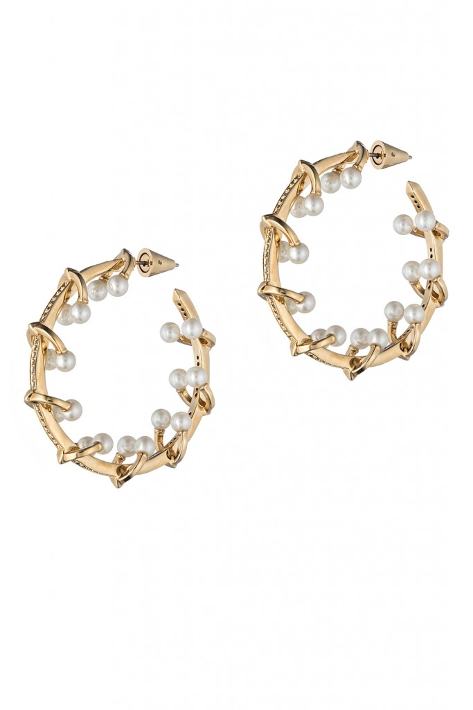 Pierced Barbell Hoop Earrings