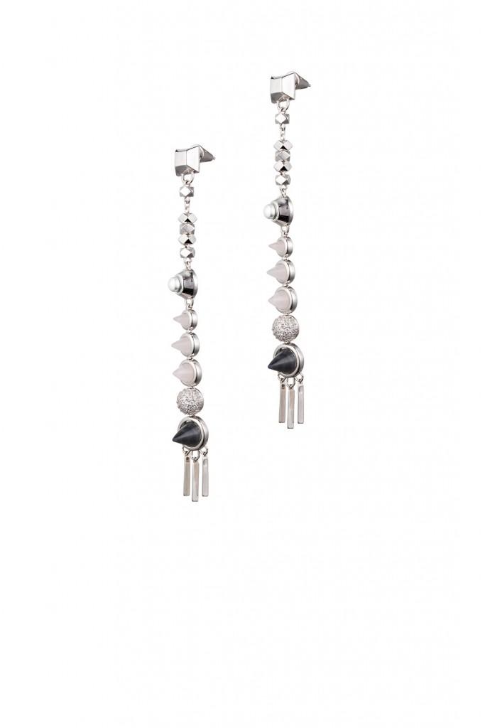 Silver Assemblage Drop Earrings