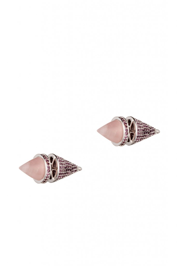 Twin Cone Stud Earrings