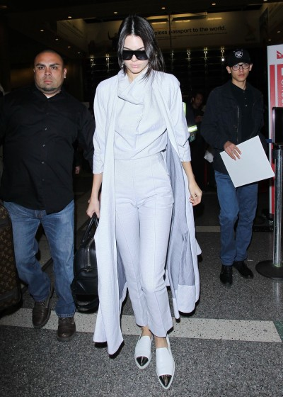 Kendall Jenner Catches A Flight Out Of LAX Airport