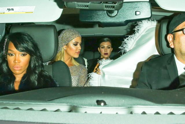Khloe and Kourtney Kardashian arrive at Kris Jenner's Birthday Party
