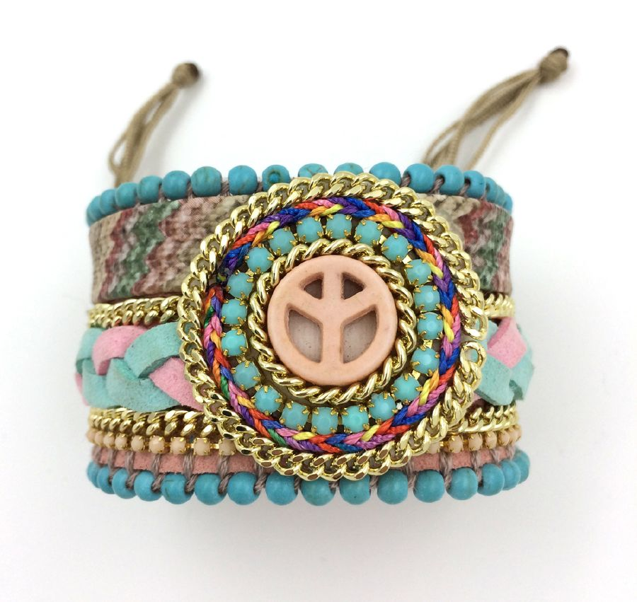 resized_2015-New-European-Jewelry-Suppliers-leather-Bangle-wrap-bracelet-peace-symbol-beads-bracelet-for-women-girl