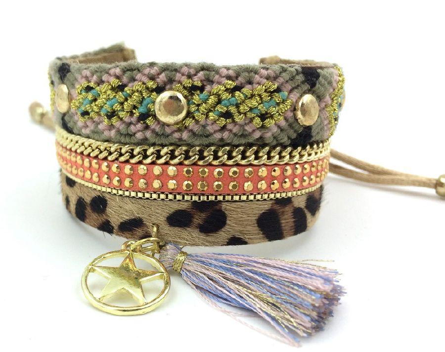 resized_2015-New-Leopard-European-Jewelry-Suppliers-leather-Bangle-wrap-bracelet-Horsehair-punk-crystal-bracelet-for-women