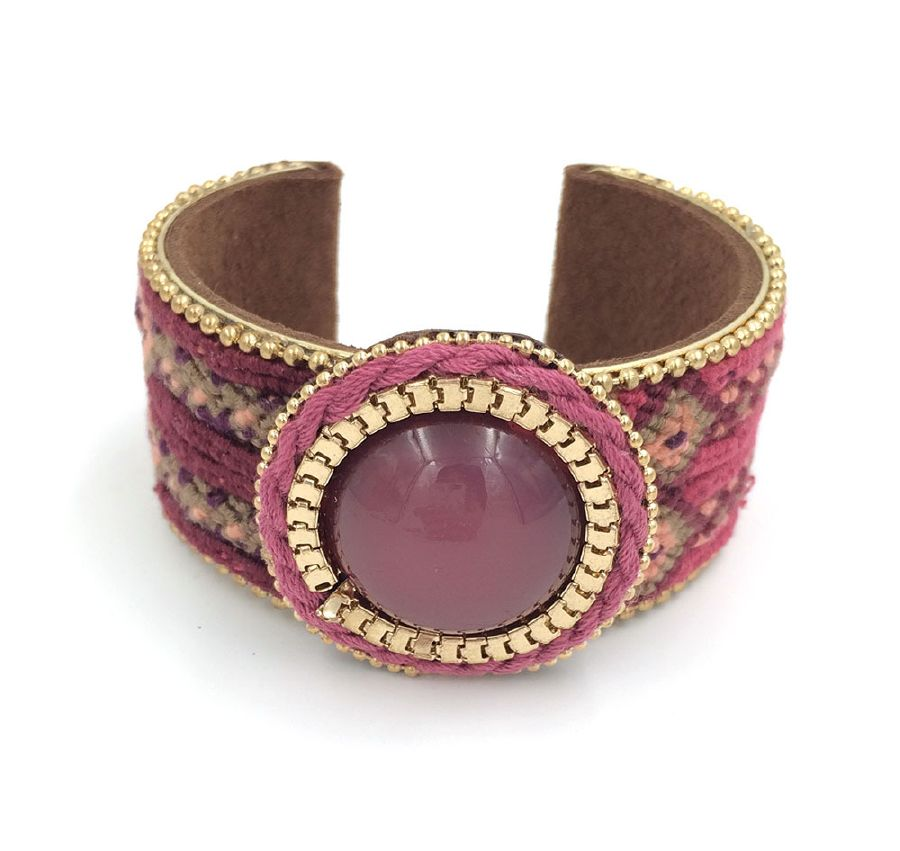 resized_New-European-Jewelry-Suppliers-handmade-weaving-bracelet-Red-Phosphorus-stone-wide-bangle-bracelet-Bohemia-for-women