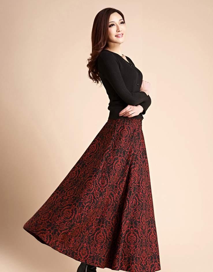 جودة-عالية-الخريف-والشتاء-2013-الصوفية-تنورة-طويلة-خمر-التنانير-الطويلة-سماكة-تمثال-امرأة