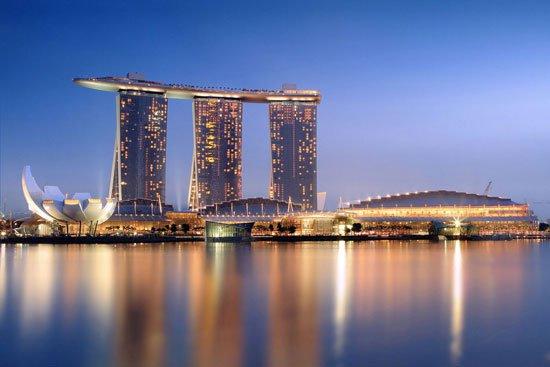 منتجع مارينا باى ساندز فى سنغافورة