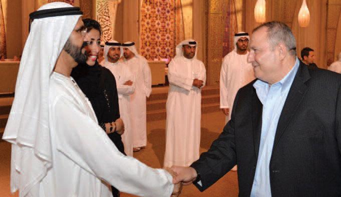 عدنان الكاتب مع حاكم دبي الشيخ محمد بن راشد