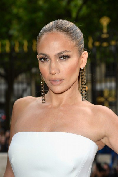 JLO at Versace Haute-Couture Fall 2014 Fashion Show