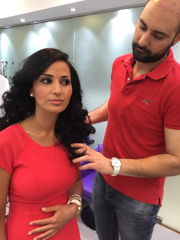 Leading Hairstylist at The Ajman Palace Hotel Wedding Fair 01