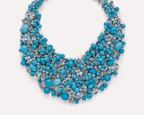 Tiffany turquoise aquamarine diamond necklace 2015
