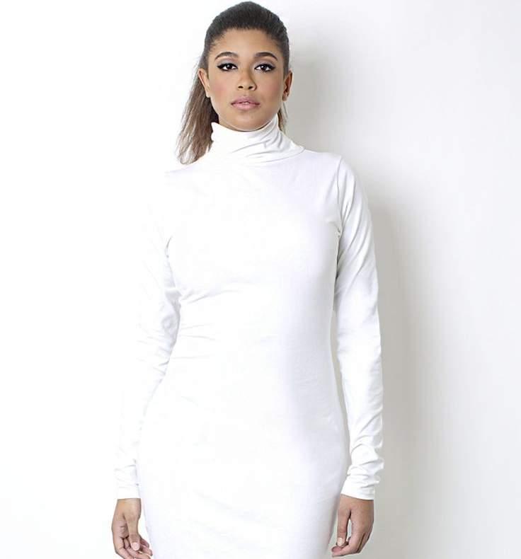 Winter dresses in white