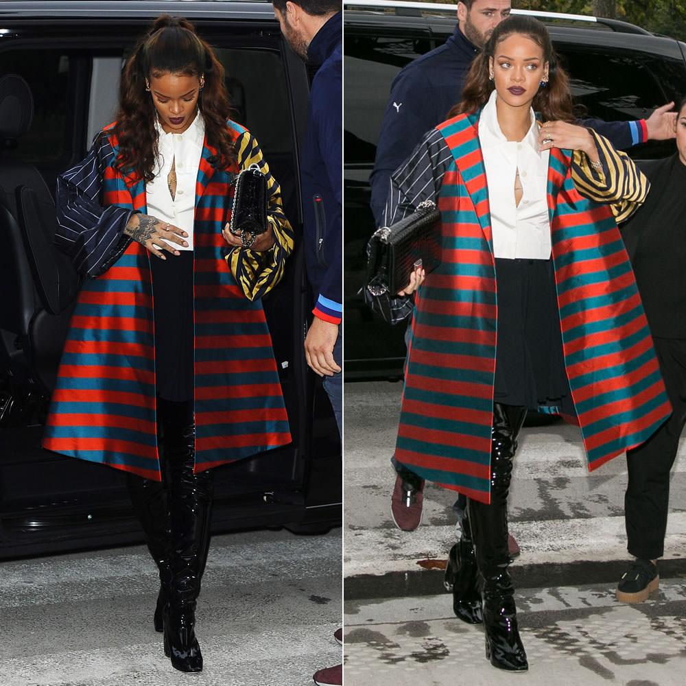 rihanna-dior-couture-striped-coat