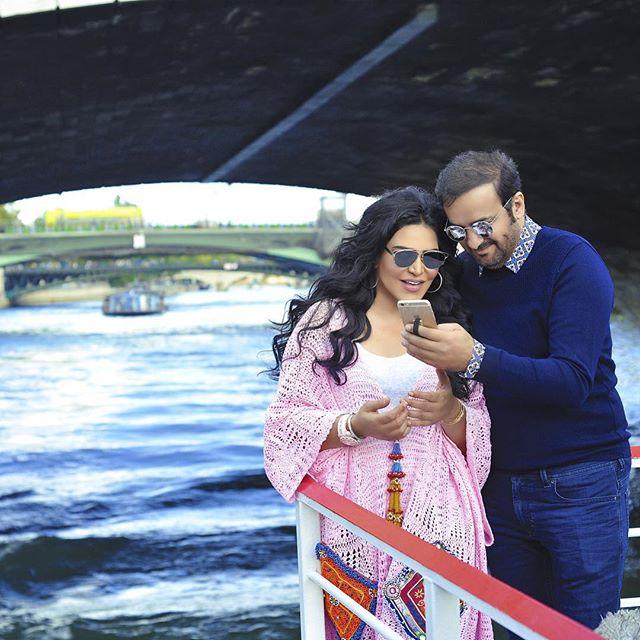 أحلام مع زوجها في صور رومانسية  (2)