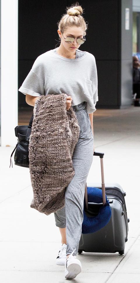 *EXCLUSIVE* New couple Gigi Hadid and Joe Jonas arrive a JFK Airport