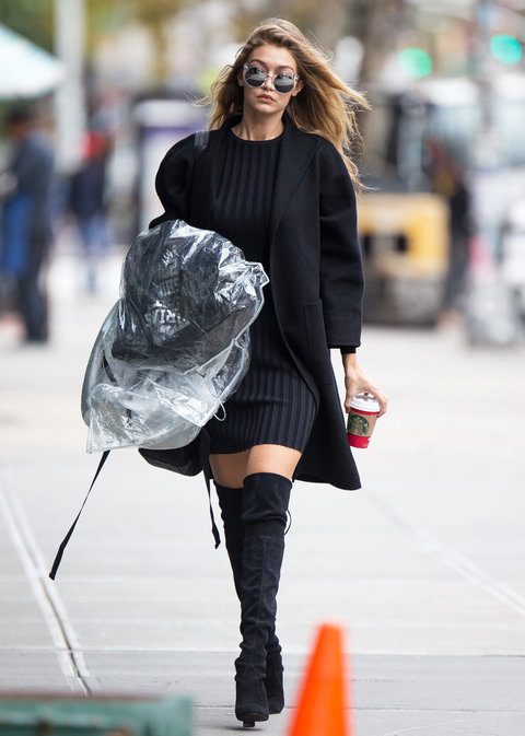 EXCLUSIVE: Gigi Hadid out and about in New York City