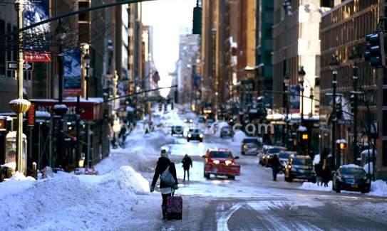 كثافة الثلوج في شرق أمريكا تصل إلى 67سم (2)