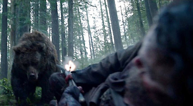 Leonardo DiCaprio raped by a bear TWICE in his new film The Revenant as actor looks poised to finally achieve Oscar glory
