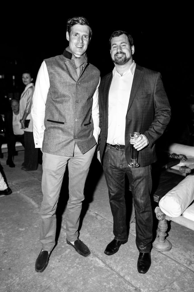 resized_Ben Vestey & Carter Carnegie at The RAAS drinks party at British Polo Day India 2015. Photo by Keoma Zec