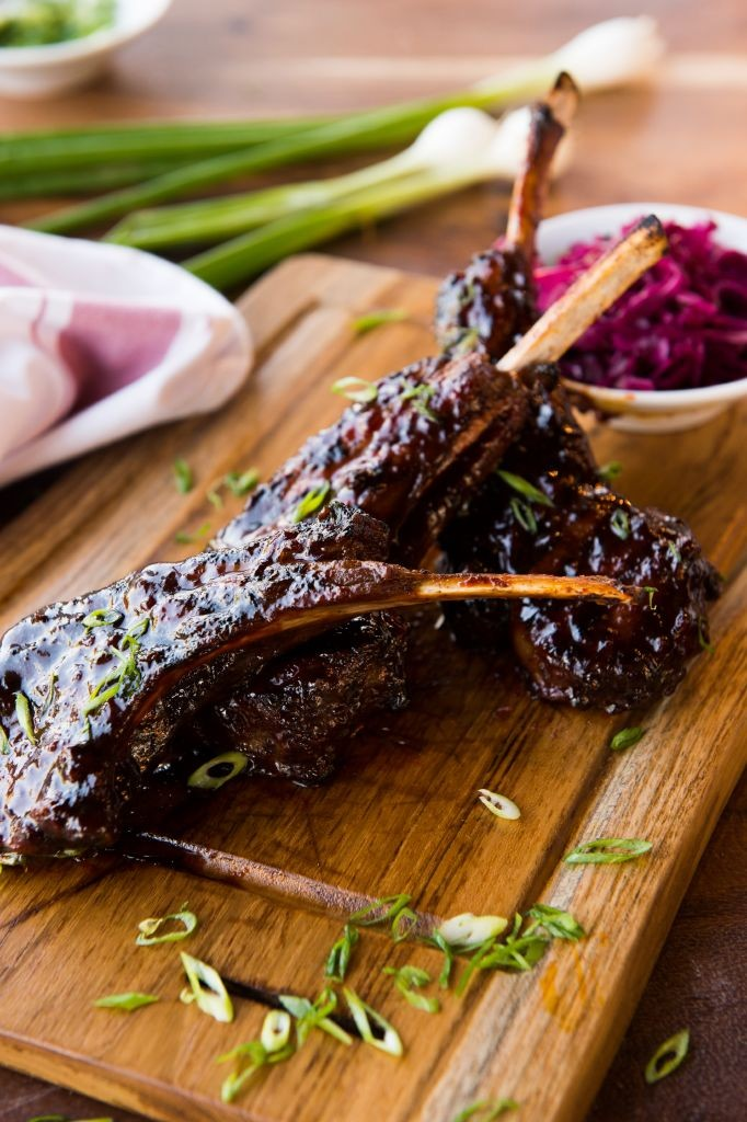 resized_Fume - 3 lamb cutlets, Korean spices - pickled red cabbage
