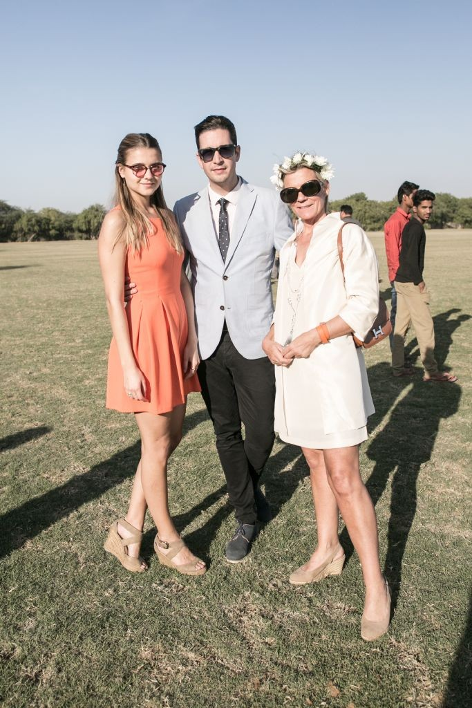 resized_Jade Farmiloe, David Burt & Helen Bromovsky at British Polo Day Jodhpur 2015. Credit Keoma Zec